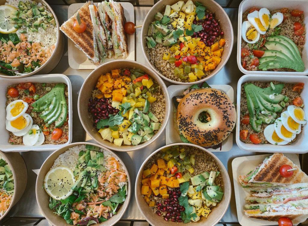 Poke bowls, salades